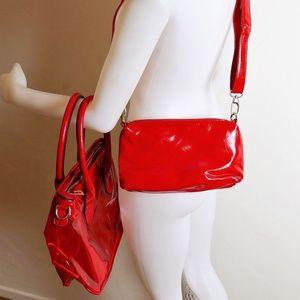 Handbags - NWT Transparent Red Large size PVC 2 in 1 Handbag